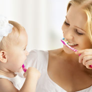 BABY AND BRUSHING